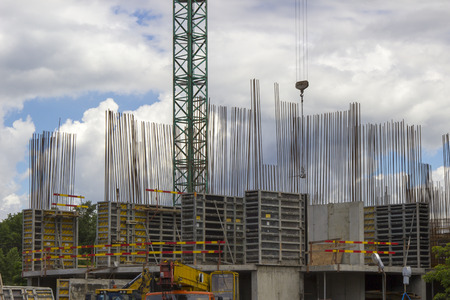Construction Site With Crane photo