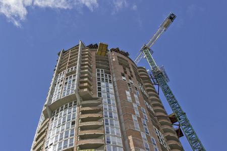 Construction Site Modern Apartment Building photo
