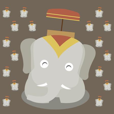 thai elephant smile cartoon