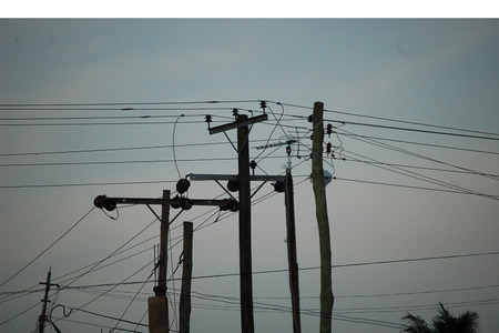 power: African Power Lines Stock Photo