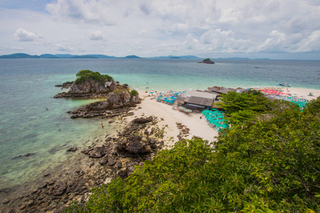 ful: View point from top of mountain for see the beach, sea and nature of Khai island