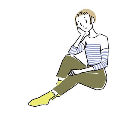 Sitting woman 1