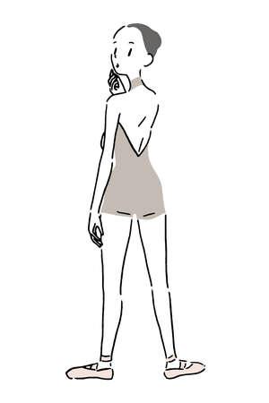 Woman dancing ballet 2