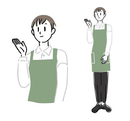 Male clerk to guide 1 向量圖像
