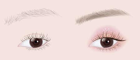 eye make up 1 Vector Illustration