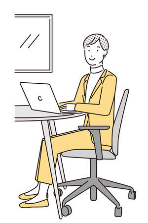 Business person doing telework