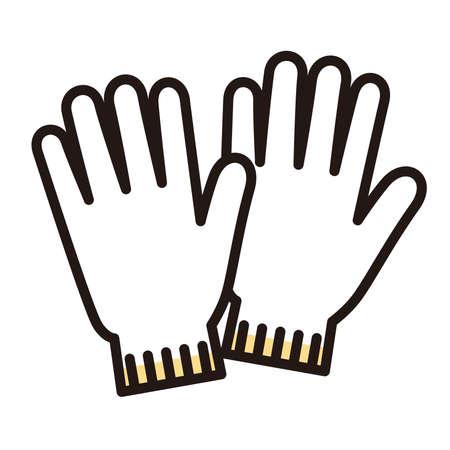 Vector illustration of work gloves