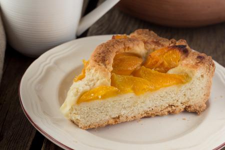 shortcake: Piece of peach shortcake selective focus