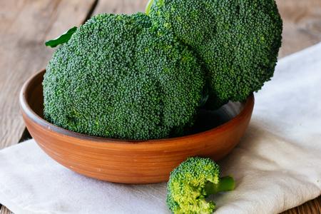 loamy: Broccoli in bowl selective focus