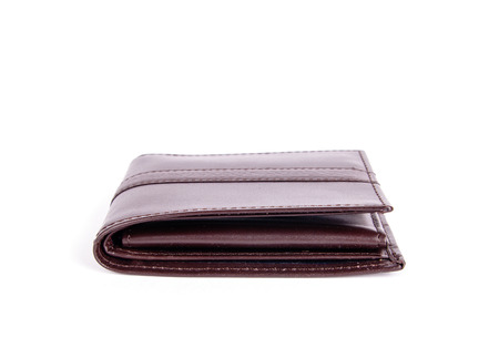 looting: an image of purse with money isolated on white