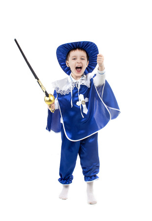 musketeer: an image of boy in a suit musketeers
