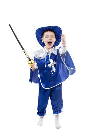mosquetero: una imagen de un ni�o en un traje de mosqueteros