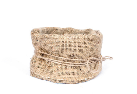 wickerwork: an image of empty basket isolated on white Stock Photo