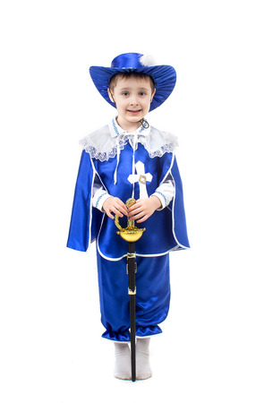 french fancy: an image of boy in a suit musketeers