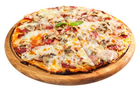 comida italiana: una imagen de la deliciosa pizza Foto de archivo