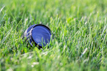 An image of lens on the grass