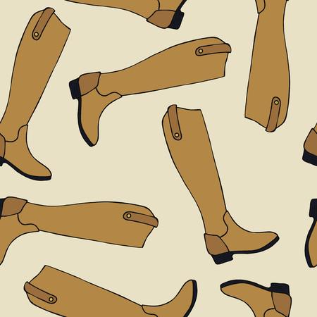 Cute boots seamless pattern