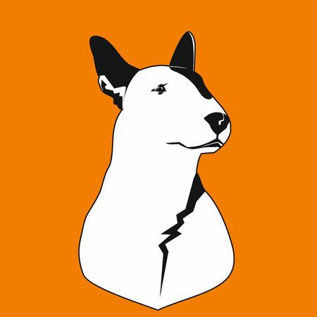Dog bull terrier. Illustration