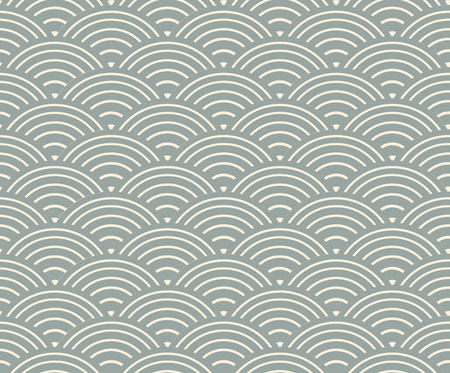 Japanese seamless pattern blue waves.