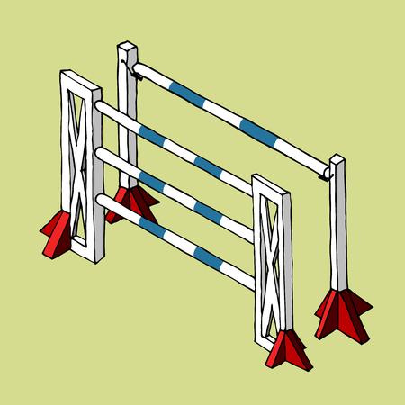 Vecteur obstacle équestre Banque d'images - 96446699