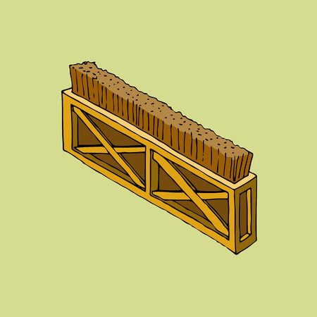 Brush fence obstacle vector