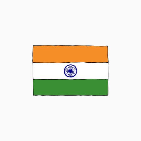 National flag of India Ilustração