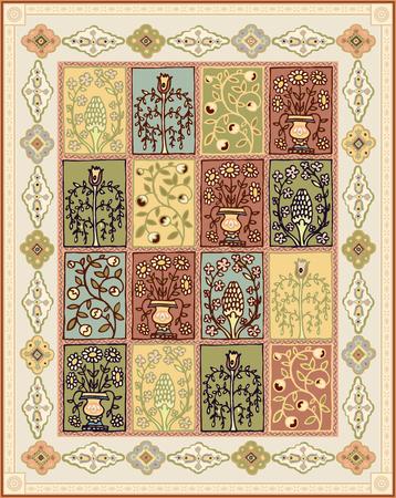 National oriental colored Turkish carpet Illustration