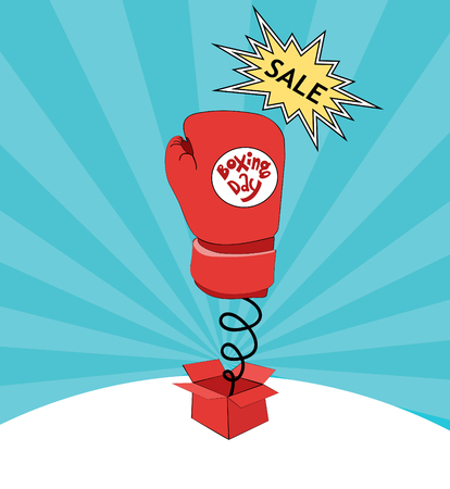 boxing day card sale Ilustração