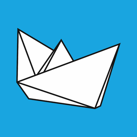 object paper ship