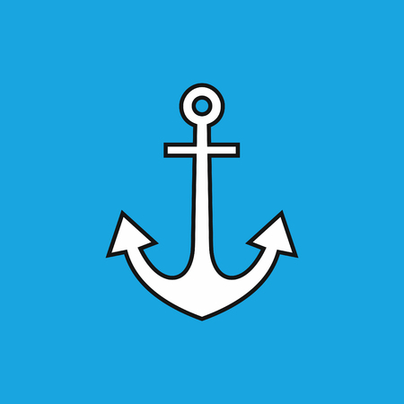 object white anchor Illustration