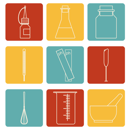 set icons of tools for handwork soap