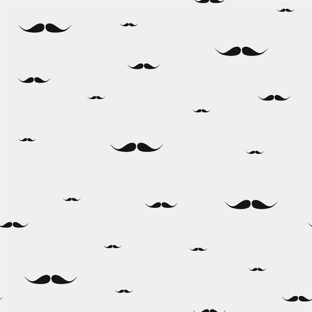 vector seamless pattern mustaches