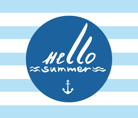 lettering handdrawn lettering Hello Summer