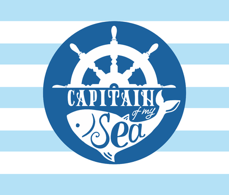 handdrawn lettering capitain of my sea