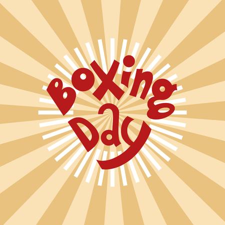 fine lettering boxing day Ilustração