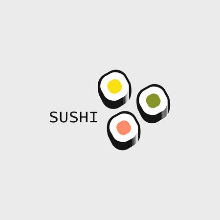 sushi rolls symbol rice nori