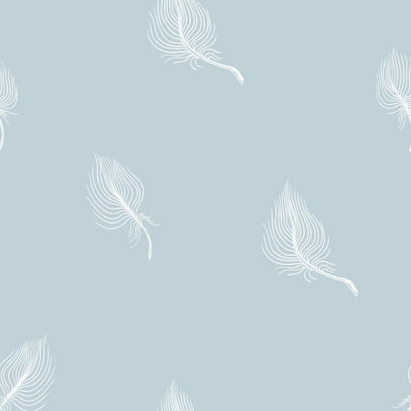 seamless pattern white air feathers of a bird  イラスト・ベクター素材