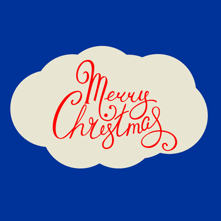 handdrawn lettering marry christmas