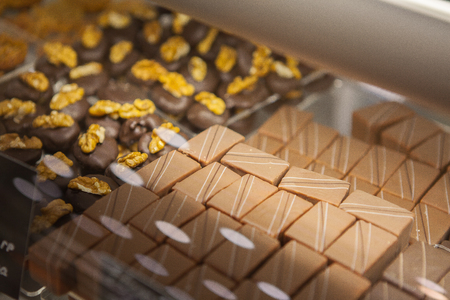 Beautiful and mouth-watering chocolate candies Stock Photo