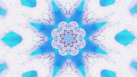 Abstract background. Kaleidoscopic. Christmas mandala-snowflake kaleidoscope sequence. Mirror prism creating toy effect Banco de Imagens - 113058878