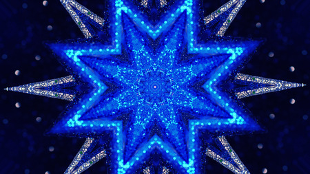 Christmas mandala-snowflake kaleidoscope sequence. Abstract background. Kaleidoscopic. Mirror prism, toy effect Banco de Imagens