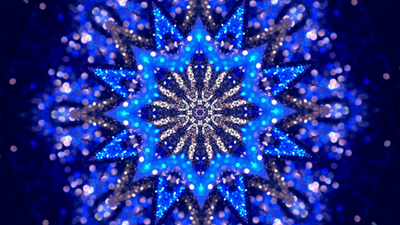 Christmas mandala-snowflake kaleidoscope sequence. Abstract background. Kaleidoscopic. Mirror prism, toy effect Banco de Imagens - 113058870