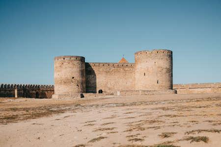 Medieval Akkerman fortress ( Belgorod-Dnestrovskaya fortress). Preserved ruins of an ancient building - Citadel on Ukrainian territory.