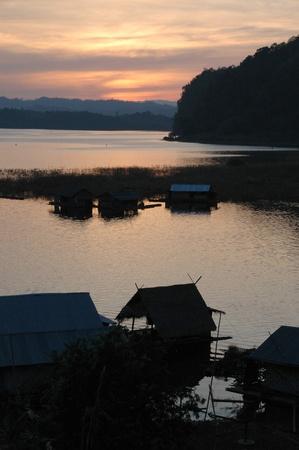 kanchanaburi: Village in Kanchanaburi, Thailand Stock Photo