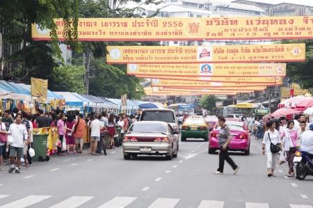 goodluck: Yaowarat, Bangkok, Thailand - October 4-13, 2013 - People celebrate Vegetarian Festival in Yaowarat