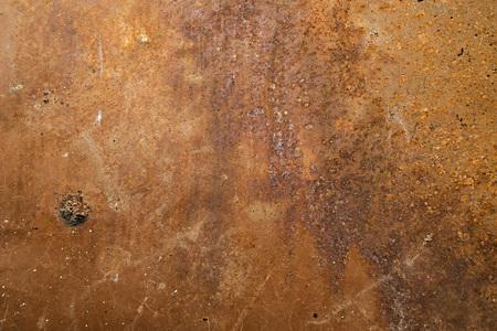oxidize: Rusty matal sheet corrosion by oxidation Stock Photo