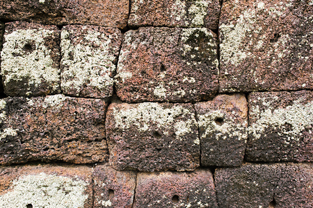 Laterite with crack at historical site background 04 Stock Photo