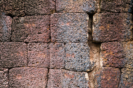redbrick: Laterite with crack at historical site background 05 Stock Photo