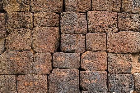 porous brick: Laterite with crack at historical site background 06