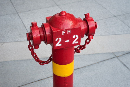 Fire hydrant on sidewalk